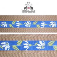 MARTINGALE DOG COLLAR - RETRO DAISIES ON BLUE